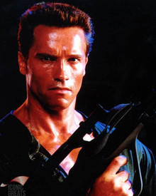 Arnold Schwarzenegger in Commando Poster and Photo