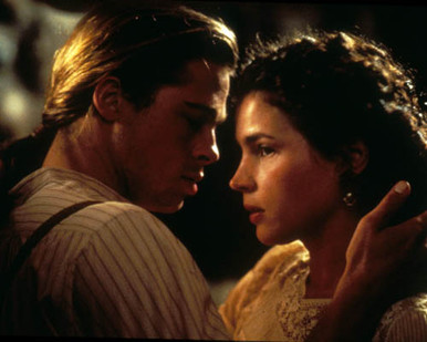 Brad Pitt & Julia Ormond in Legends of the Fall Poster and Photo