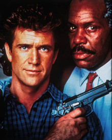 Mel Gibson & Danny Glover in Lethal Weapon II Poster and Photo
