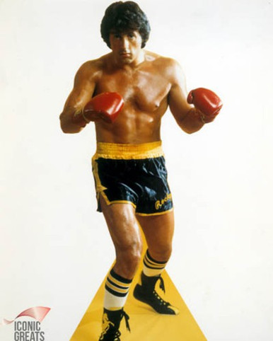 Sylvester Stallone in Rocky Poster and Photo