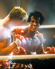 Sylvester Stallone & Dolph Lundgren in Rocky IV Poster and Photo