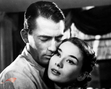 Audrey Hepburn & Gregory Peck in Roman Holiday a.k.a. Vacances Romaines Poster and Photo