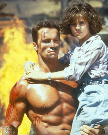 Arnold Schwarzenegger & Alyssa Milano in Commando Poster and Photo