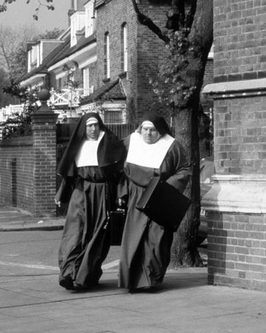 Eric Idle & Robbie Coltrane in Nuns on the Run Poster and Photo