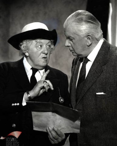 Margaret Rutherford & Stringer Davis in Murder Ahoy Poster and Photo