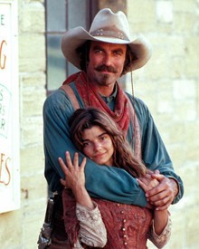 Tom Selleck & Laura San Giacomo in Quigley Down Under Poster and Photo