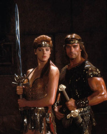 Arnold Schwarzenegger & Brigitte Nielsen in Red Sonja Poster and Photo
