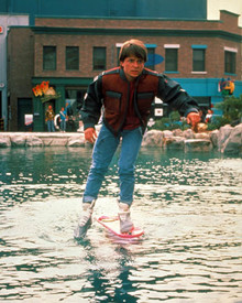Michael J. Fox in Back to the Future Part II Poster and Photo