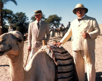 Peter Ustinov & David Niven in Death on the Nile Poster and Photo