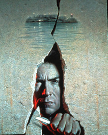 Artwork & Clint Eastwood in Escape from Alcatraz Poster and Photo