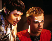 Jonny Lee Miller & Angelina Jolie in Hackers Poster and Photo