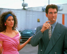 Jami Gertz & Dylan McDermott in Jersey Girl (1992) Poster and Photo
