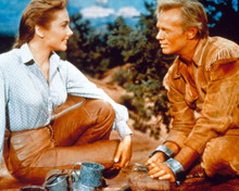 Richard Widmark & Felicia Farr in The Last Wagon Poster and Photo