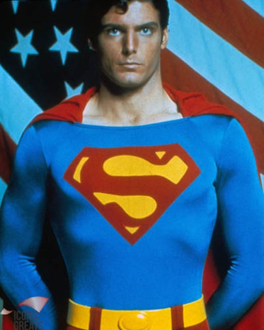 Christopher Reeve in Superman Poster and Photo