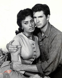 Anthony Perkins & Sophia Loren in Desire Under the Elms Poster and Photo