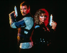Tom Selleck & Cynthia Rhodes in Runaway Poster and Photo