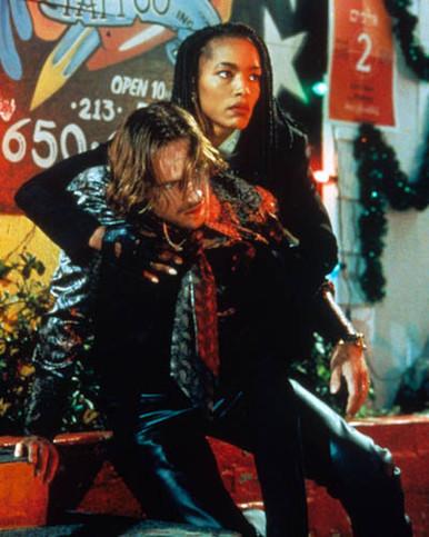 Ralph Fiennes & Angela Bassett in Strange Days Poster and Photo