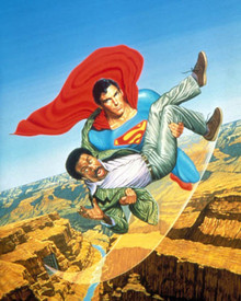 Christopher Reeve & Richard Pryor in Superman 3 Poster and Photo