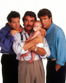 Tom Selleck & Ted Danson in Three Men and a Baby Poster and Photo