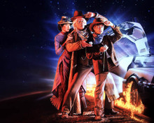 Michael J. Fox & Christopher Lloyd in Back to the Future Part III Poster and Photo