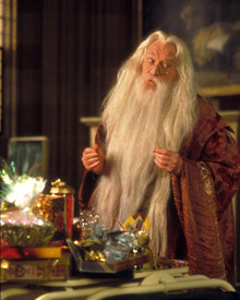 Richard Harris in Harry Potter and the Philosopher's Stone a.k.a. Harry Potter and the Sorcerer's Stone a.k.a. Harry Potter a l'ecole des sorciers Poster and Photo