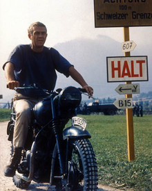 Steve McQueen in The Great Escape Poster and Photo
