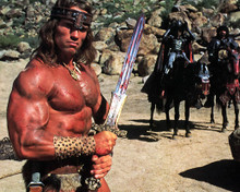 Arnold Schwarzenegger in Conan, the Destroyer Poster and Photo