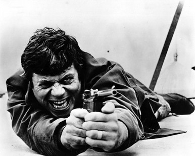 Oliver Reed in Sitting Target Poster and Photo