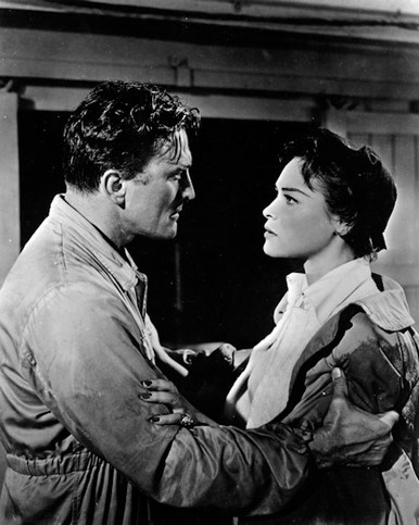 Kirk Douglas & Bella Darvi in The Racers a.k.a. Such Men Are Dangerous Poster and Photo