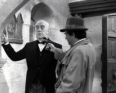 Alec Guinness & Peter Falk in Murder by Death Poster and Photo