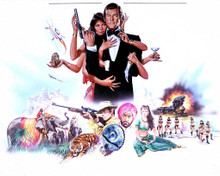 Roger Moore & Maud Adams in Octopussy Poster and Photo