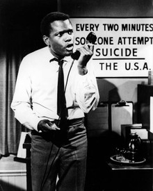 Sidney Poitier in The Slender Thread Poster and Photo