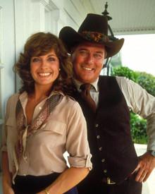 Linda Gray & Larry Hagman in Dallas (1978-1991) Poster and Photo