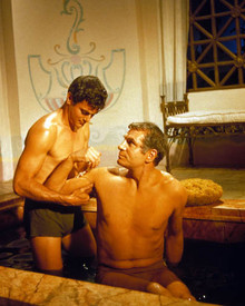 Laurence Olivier & Tony Curtis in Spartacus Poster and Photo