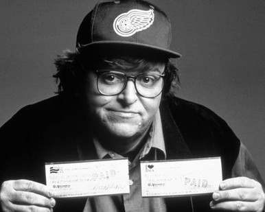 Michael Moore in The Big One Poster and Photo
