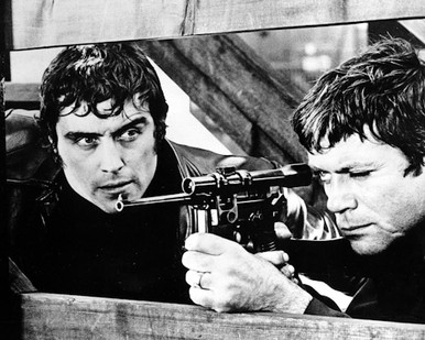 Ian McShane & Oliver Reed in Sitting Target Poster and Photo