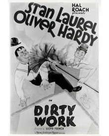 Poster & Stan Laurel in Dirty Work (Laurel & Hardy) Poster and Photo