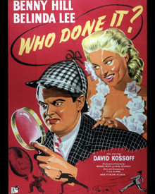 Benny Hill & Belinda Lee in Who Done It? Poster and Photo