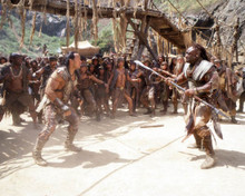 Dwayne Johnson & Michael Clarke Duncan in The Scorpion King Poster and Photo