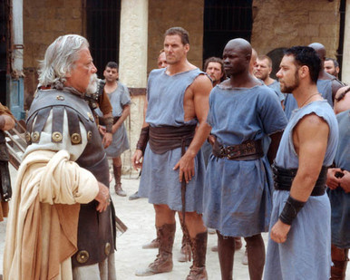 Oliver Reed & Russell Crowe in Gladiator (2000) Poster and Photo