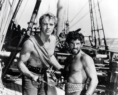 Burt Lancaster & Nick Cravat in The Crimson Pirate Poster and Photo