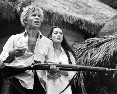 Michael York & Barbara Carrera in The Island of Dr. Moreau (1977) Poster and Photo