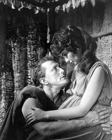 Kirk Douglas & Jean Simmons in Spartacus Poster and Photo
