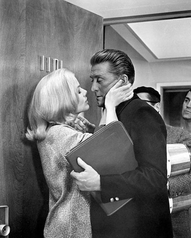 Kirk Douglas & Julie Newmar in For Love Or Money Poster and Photo
