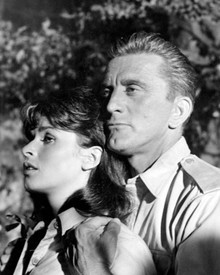 Kirk Douglas & Senta Berger in Cast a Giant Shadow Poster and Photo
