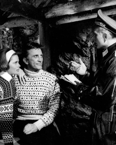 Kirk Douglas & Anton Diffring in The Heroes of Telemark Poster and Photo