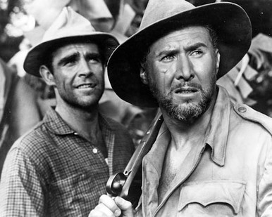 Sean Connery & Anthony Quayle in Tarzan's Greatest Adventure Poster and Photo