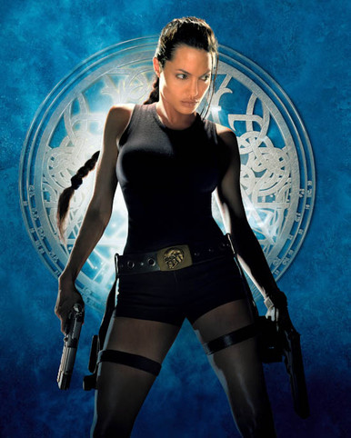 Angelina Jolie in Lara Croft: Tomb Raider a.k.a. Tomb Raider Poster and Photo