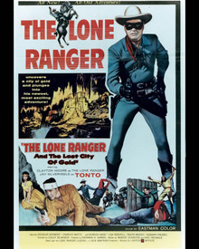Poster & Clayton Moore in The Lone Ranger and the Lost City Of Gold Poster and Photo