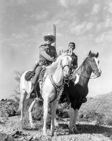 Clayton Moore & Jay Silverheels in The Lone Ranger (1949) Poster and Photo